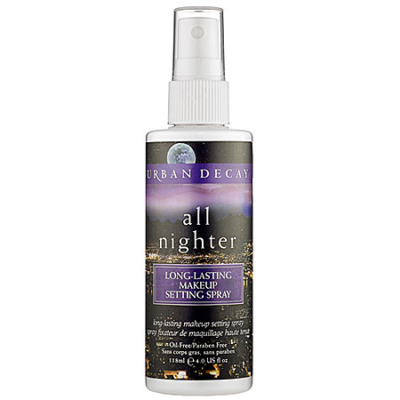Urban Decay's All Nighter Spray (to set the whole look)